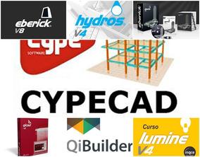 Cypecad 2018m Pt+eberick+hydros+lumine+qicad+qibuilder+curso