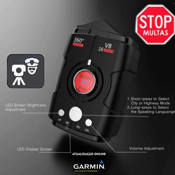 Gps Detetor Alerta Rada Sonoro Laser Veicular Móvel