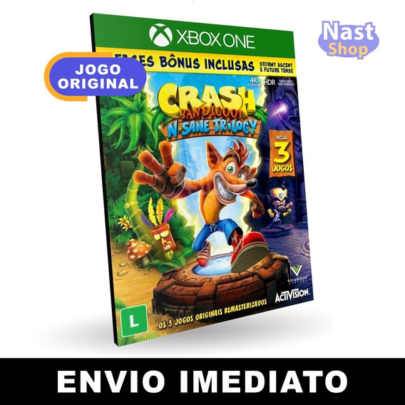 Crash Bandicoot Xbox One Mídia Digital Envio Imediato