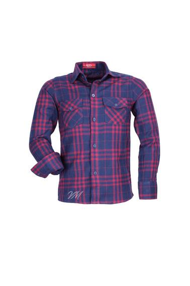 Camisa Infantil Alfa Tecido Algodão Xadrez Junino - Cor 01