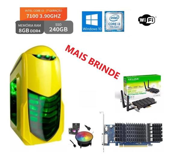 Pc Gamer Core I3-7100 3.90ghz 8gb Ddr4 Hd 240 Ssd 7ª Geração