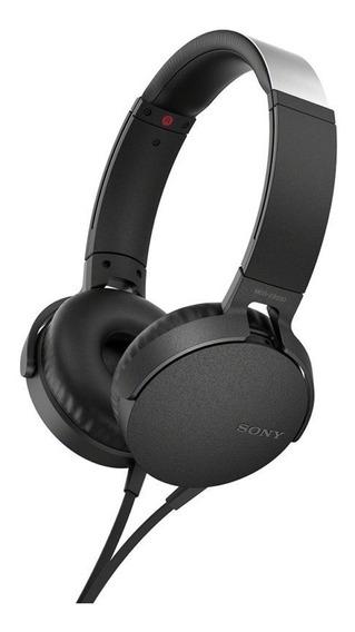 Headphone Sony Mdr-xb550ap Extra Bass Preto C/ Nota Fiscal