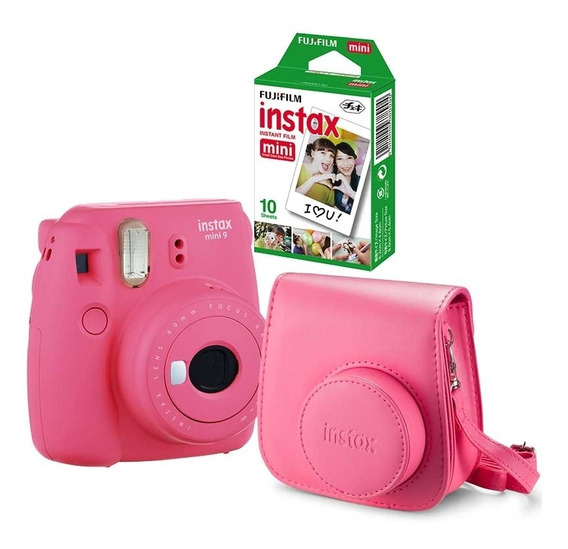 Kit Câmera Instax Mini 9 Rosa Flamingo
