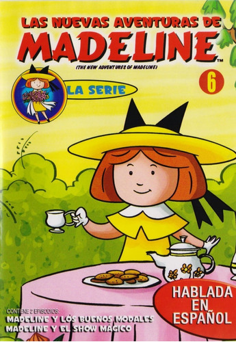 Imagen 1 de 3 de Las Nuevas Aventuras De Madeline Volumen 6 Seis Serie Dvd