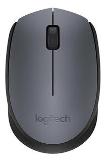Mouse Logitech M170 plateado y negro