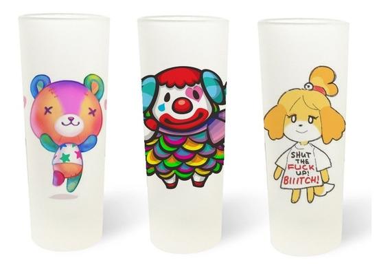 3 Vasos Tequileros Shoteros Animal Crossing Isabelle Canela