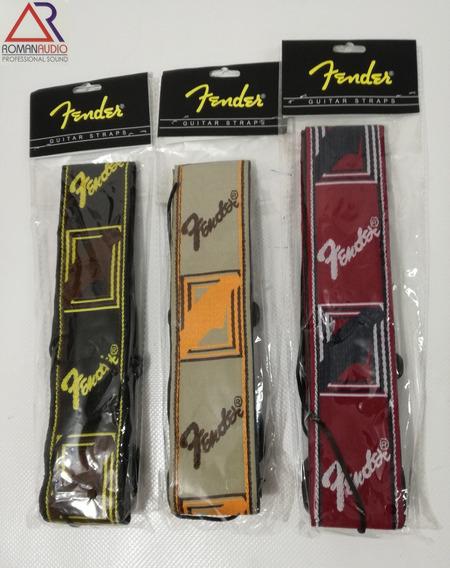 Correa Fender De Guitarra O Bajo / Varios Colores