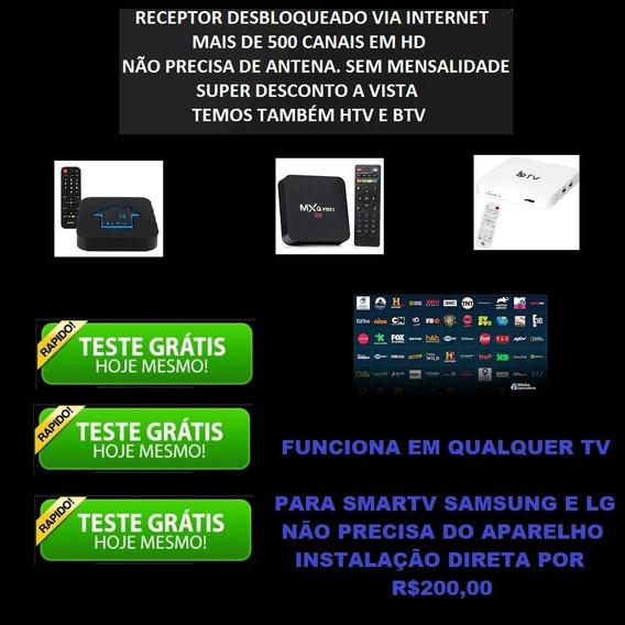 Aparelho Receptor Android 10.1 Tv Box E Sem Mensalidades
