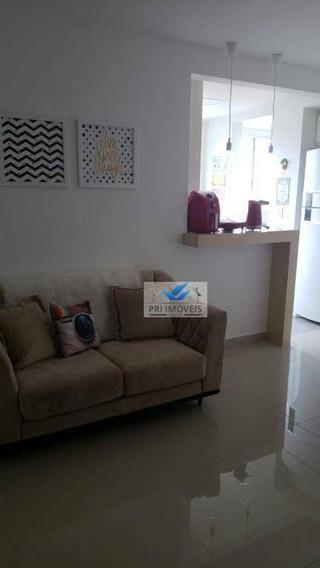 Apartamento Para Alugar, 80 M² Por R$ 3.500,00/mês - Marapé - Santos/sp - Ap1181