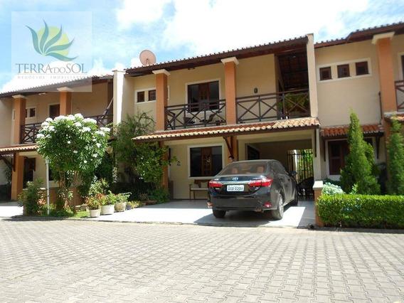 Casa Duplex Em Condomínio Fechado No Lago Jacareí. - Ca0771