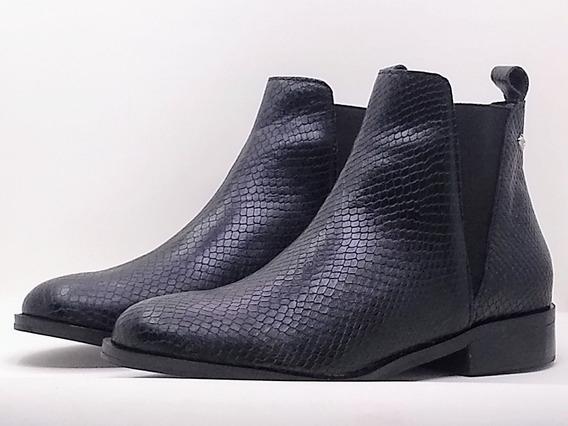 Botas Negro Reptil Cuero Vacuno Nueva Temporada Tk Shoes