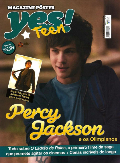 Revista Pôster Percy Jackson = 2x Logan Lerman Filme Nova!