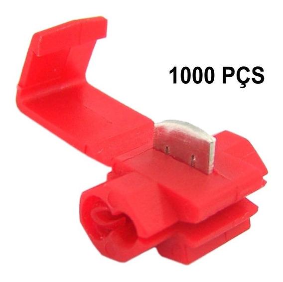 Conector Derivação Vermelho Cabos 0,75 - 1,5mm Kit 1000 Pçs