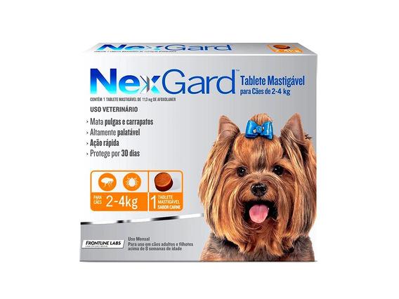 Antipulgas Nexgard Cães De 2 A 4kg - 1 Tablete