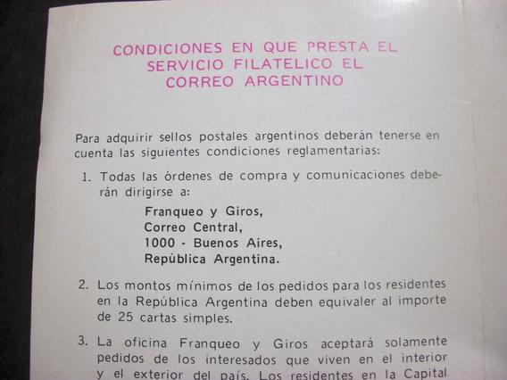 Filatelia - Programa De Encotel Arg. Expo Hobby Año 1986