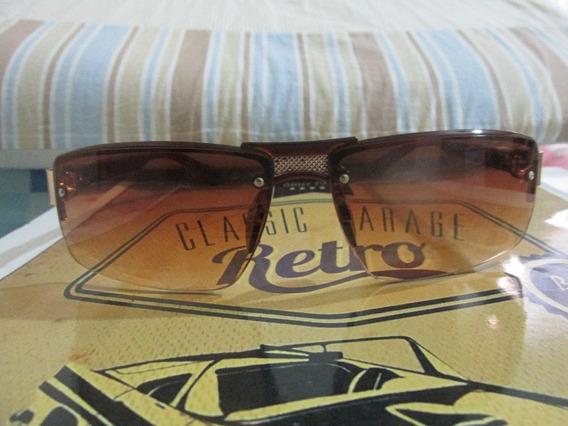 Óculos De Sol Masculino Aviador Retangular Marrom Polarizado