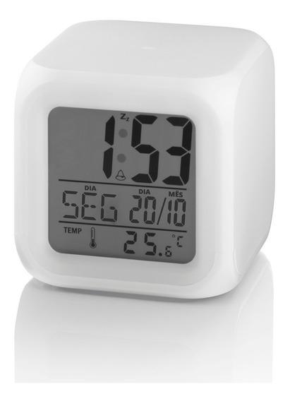 Sensor Temperatura Do Ambiente Relogio Luz Emergência Alarm