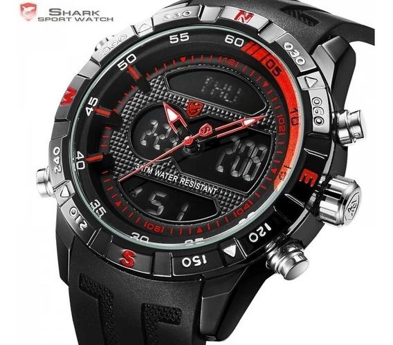 Relógio Shark Original Esportivo Rubro Negro