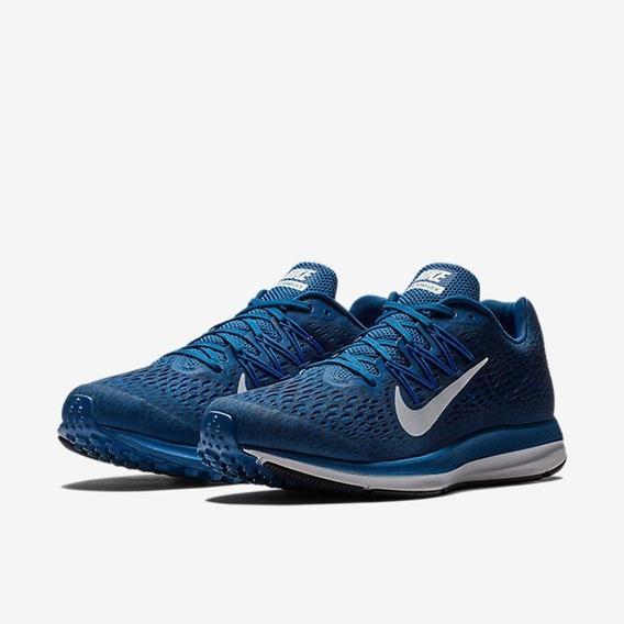 Tênis Nike Zoom Winflo 5 Azul E Branco Original
