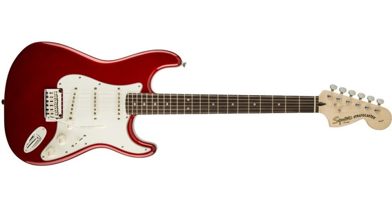 Squier Stratocaster Standard Maple Candy Apple Red Guitarra