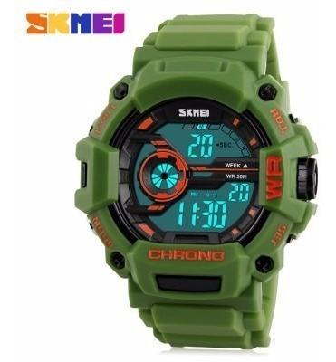 Relógio Masculino Skmei Militar Shock Digital Verde