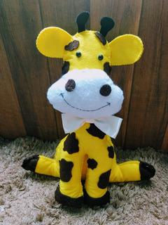Girafa Em Feltro Para Decoração - 38 Cm