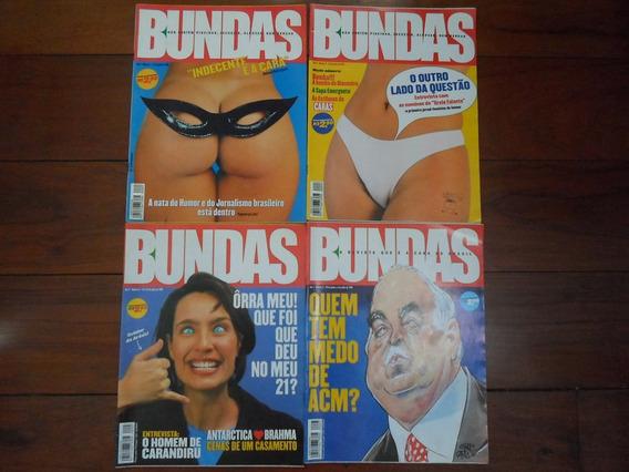 04 Revistas Bundas - Ano 1/ Núm 1/ 2/ 3/ 5 Excelenteestado!