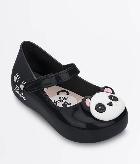Sapatilha Preta Barbie Panda Grendene Original C/nota
