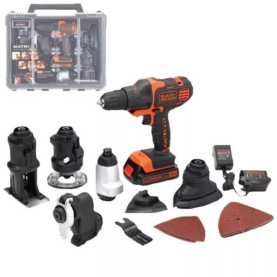 Kit 6en1 Matrix Inalambrica Black & Decker Bdcdm6kitc-ar Black + Decker Bdcdm6kitc-ar