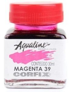 3x Aqualine Aquarela Líquida Aerografia Corfix 30ml - Magent