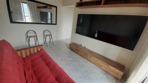 1 Dormitório Com 2 Sacadas Frente Rua Mobiliado A Venda No Canto Do Forte - Praia Grande -sp - Ap2939