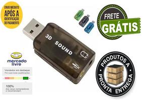 Kit 2 Placas De Som Usb 5.1 Saida De Audio Notebook Pc Nova