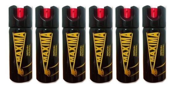 6 Gas Pimienta Cobra Lacrimogeno Labial Defensa Tipo Llavero
