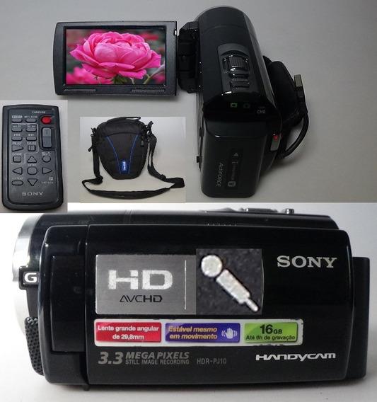 Filmadora Sony Hdr-pj10 Entrada Microfone