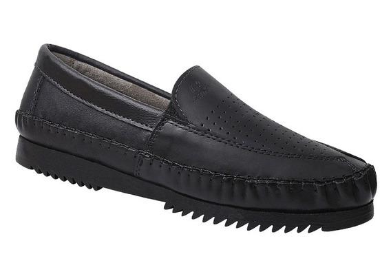 Sapatilha Masculina Em Couro Legítimo Gs Shoes Ref.:1378p