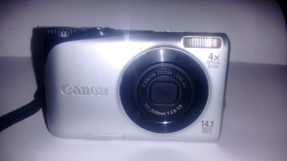 Câmera Digital Canon A 2200 Com Bateria E Carregador