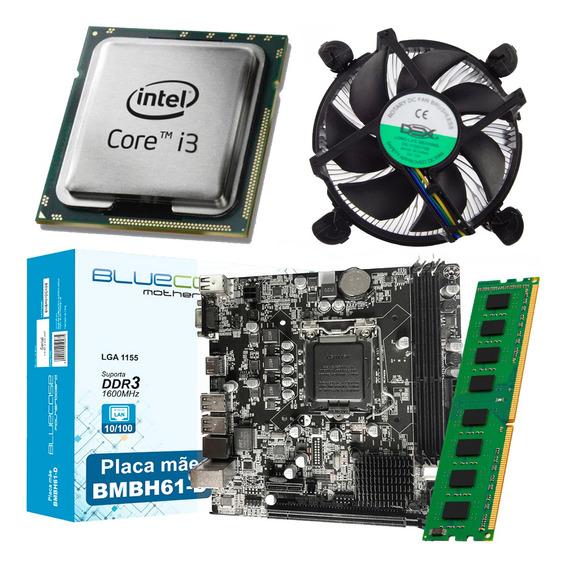 Kit Intel Processador Core I3 3220 + Placa Mãe H61 + 4gb Ram