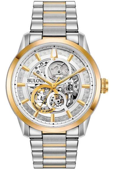 Relógio Masculino Bulova Esqueleto 98a214 Nfe Frete Grátis
