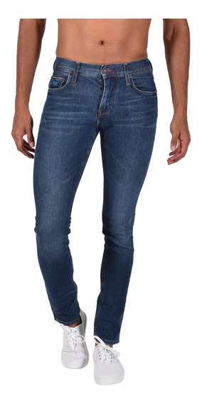 Jeans Extra Slim Fit Tommy Azul Mw0mw05380-911 Hombre