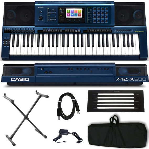 Kit Teclado Profissional Arranjador Casio Mz-x500