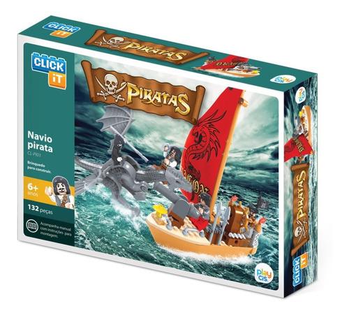 Bloco De Montar Click It Cis Navio Do Pirata