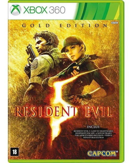 Resident Evil 5: Gold Edition Xbox 360 Nacional Lacrado Rj