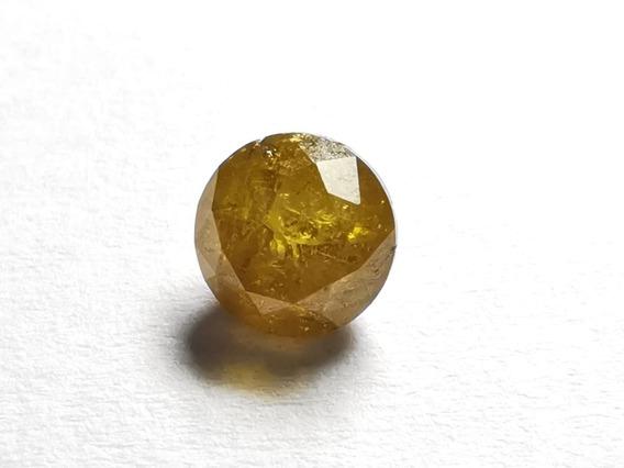 Diamante Amarelo Natural Com 0,93 Ct