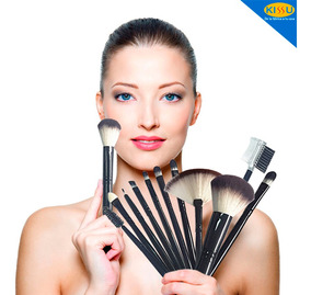 Brochas Para Maquillaje Set De 12 Piezas Incluye Estuche