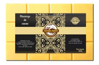 Manteiga De Cacau Comestível Culinária Para Chocolate - 800g