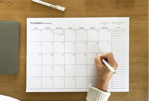Planner Net Mensual A3 Perpetuo - Mil Letterpress