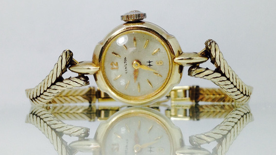 Reloj Hamilton Con Chapa De Oro. (inv 651)