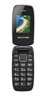 Celular Multilaser Flip Up Dual Chip Mp3 Tela 1.8 - Mp3 - Gravador - Sms - Fm - Calculadora - Design Leve E Slim!