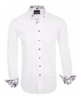 Camisas Entalladas De Vestir Slim Fit Z338 - Quality Import