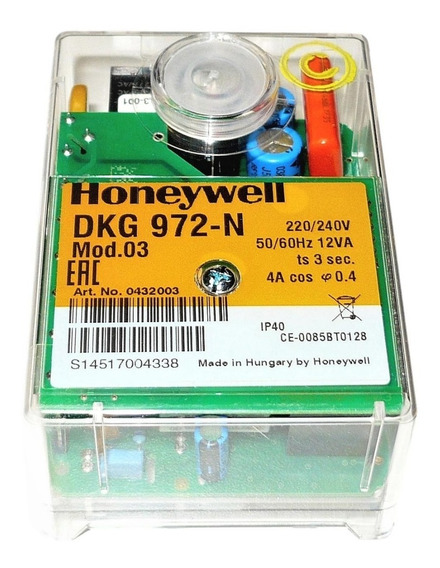 Dkg972-n Programador De Llama Para Quemadores A Gas Honeywell Satronic Reemplaza Al Dkg972 Y Al Tfi812.1 Y Tfi812.2